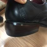 紳士靴のヒール修理