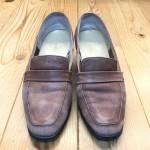 靴修理のビフォーアフター(ビフォーだけ編(笑))